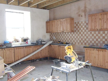 Installing new luxury kitchen