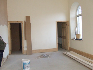 Finishing stages of bedroom